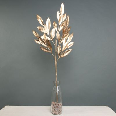 Metallic Laurel Leaf spray Gold