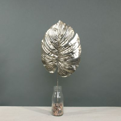 Metallic Monstera leaf med Champagne