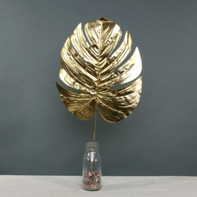 Metallic Monstera leaf Lrg Gold