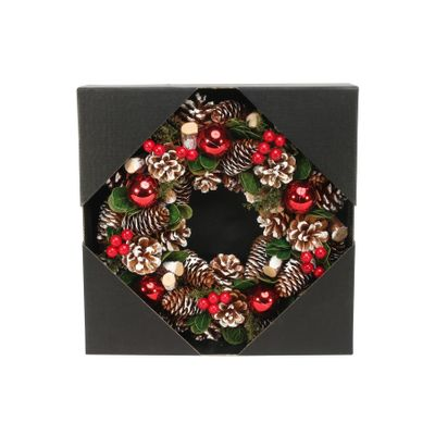30cm Red Bauble / Berry wreath
