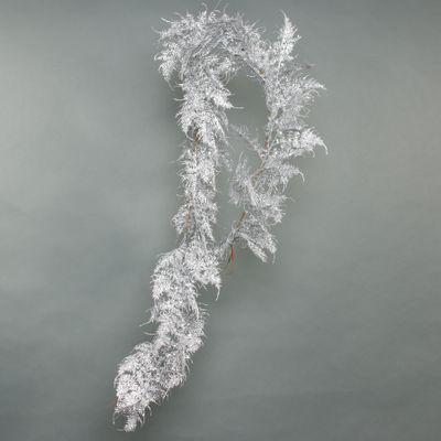 Glitter Asparagus Fern leaf garland Silver 180cm