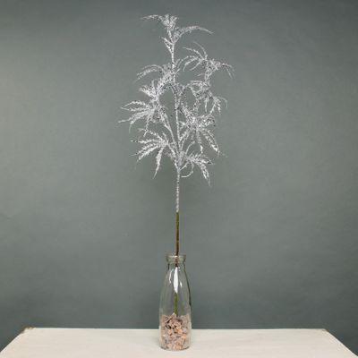 Glitter Arelia leaf stem silver