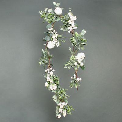 Eucalyptus White Berry and Apple Garland 120cm