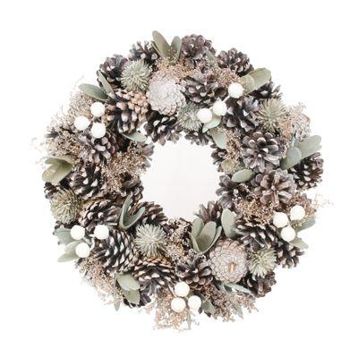 30cm Soft Greens / Natural wreath