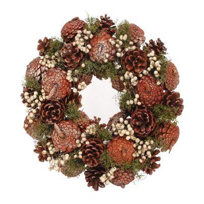 30cm Autumnal Colour Cone wreath