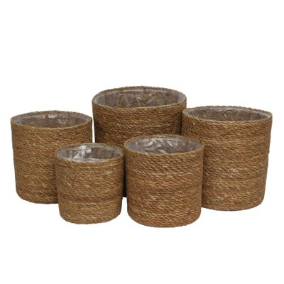 Set of 5 Seagrass Basket with Liner