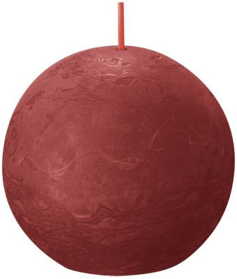 Bolsius Rustic Ball Candle 76mm - Delicate Red