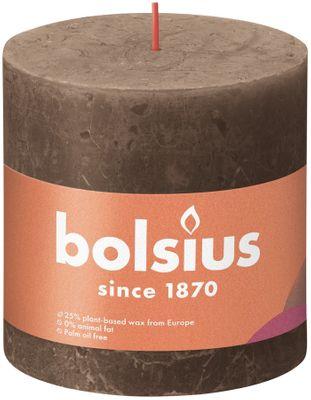 Bolsius Rustic Shine Pillar Candle 100 x 100 - Suede Brown