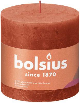Bolsius Rustic Shine Pillar Candle 100 x 100 - Earthy Orange