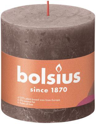 Bolsius Rustic Shine Pillar Candle 100 x 100 - Rustic Taupe