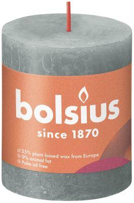 Bolsius Rustic Shine Pillar Candle 80 x 68 - Eucalyptus Green