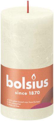 Bolsius Rustic Shine Pillar Candle 130 x 68 - Soft & Pearl