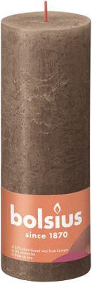 Bolsius Rustic Shine Pillar Candle 190 x 68 - Suede Brown