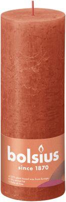 Bolsius Rustic Shine Pillar Candle 190 x 68- Earthy Orange