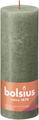 Bolsius Rustic Shine Pillar Candle 190 x 68 - Fresh Olive