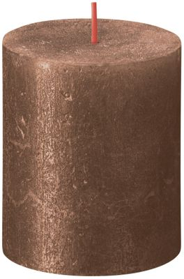 Bolsius Rustic Shimmer Metallic Candle 80 x 68 - Copper