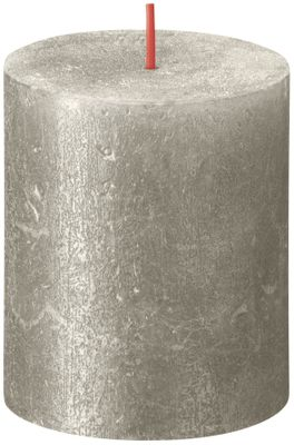 Bolsius Rustic Shimmer Metallic Candle 80 x 68 - Champagne