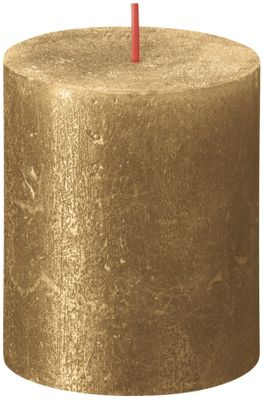 Bolsius Rustic Shimmer Metallic Candle 80 x 68 - Gold