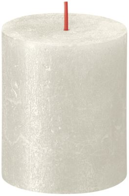 Bolsius Rustic Shimmer Metallic Candle 80 x 68 - Ivory