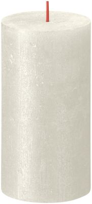 Bolsius Rustic Shimmer Metallic Candle 130 x 68 - Ivory