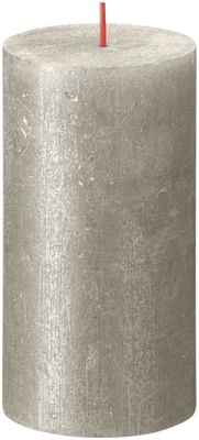 Bolsius Rustic Shimmer Metallic Candle 130 x 68 - Champagne