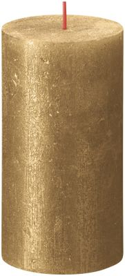 Bolsius Rustic Shimmer Metallic Candle 130 x 68 - Gold