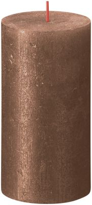 Bolsius Rustic Shimmer Metallic Candle 130 x 68 - Copper