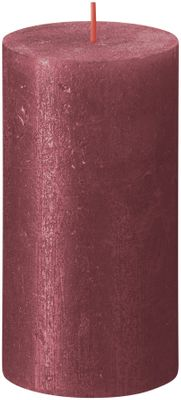 Bolsius Rustic Shimmer Metallic Candle 130 x 68 - Red