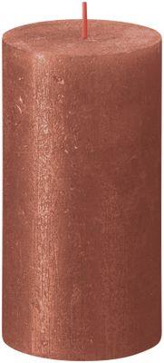 Bolsius Rustic Shimmer Metallic Candle 130 x 68 - Amber