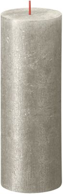 Bolsius Rustic Shimmer Metallic Candle 190 x 68  - Champagne