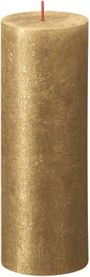 Bolsius Rustic Shimmer Metallic Candle 190 x 68 - Gold