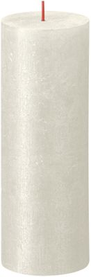 Bolsius Rustic Shimmer Metallic Candle 190 x 68  - Ivory