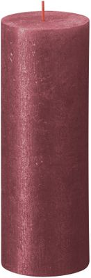 Bolsius Rustic Shimmer Metallic Candle 190 x 68 - Red
