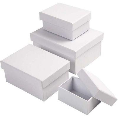 Rectangular Boxes, H: 3,5+4,5+5,5+6,5 cm, size 8,