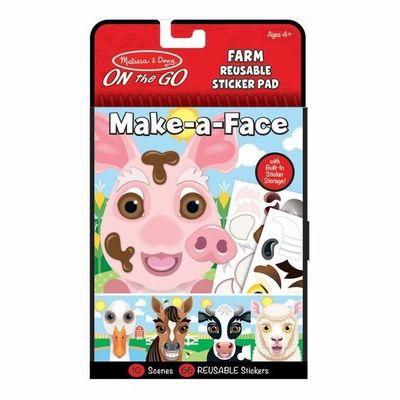 Make-a-Face Reusable Sticker Pad - Farm