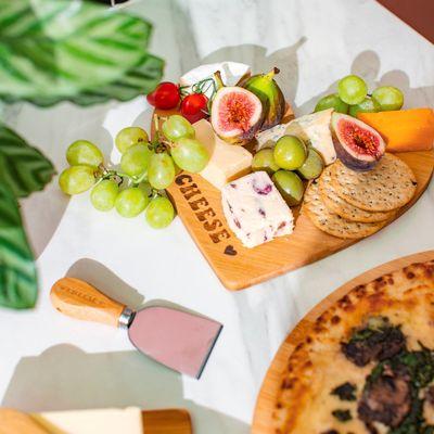 Bamboo Cheese Board & Knife