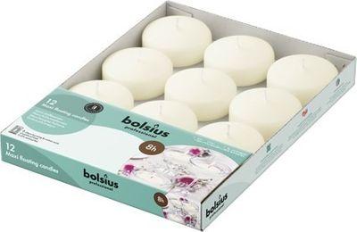 Bolsius Maxi Floating Candles x 12 White
