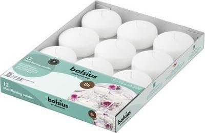 Bolsius Maxi Floating Candles x 12 Ivory