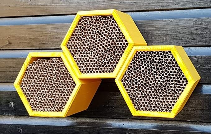 Honeycomb Modular Mason Bee House with Refillable Nest Tubes