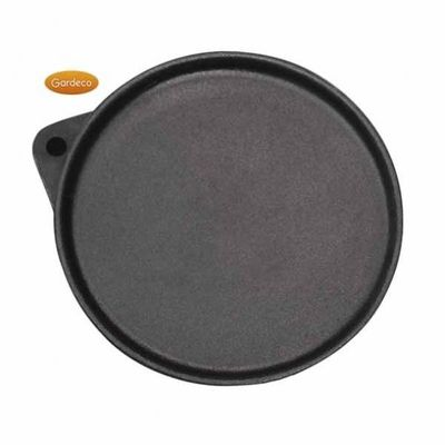 Gardeco Swivelling cast iron Hotplate & Frying Pan with edge, 26cm dia
