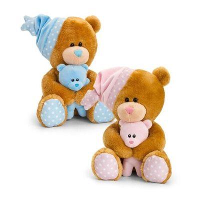 25cm Pipp the Bear Musical with Hat & Teddy 2 Asstd