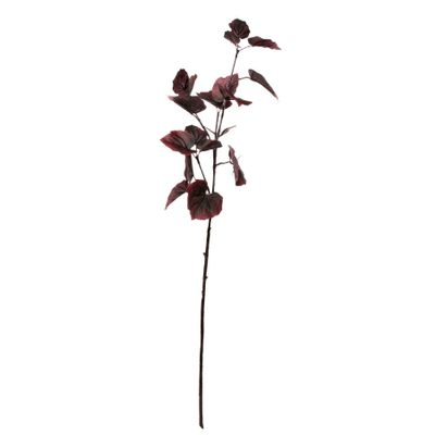 Glamis Tilia Leaves Spray with 11 sets of Lvs Burgundy (81cm)
