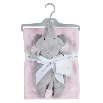 Babies Toy & blanket set - Ele - PINK