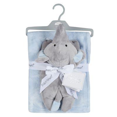 Babies Toy & blanket set - Ele - BLUE