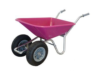County Clipper Compact Garden Wheelbarrow Pink