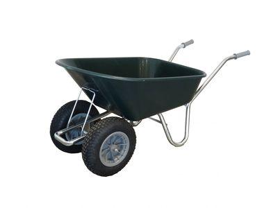 Twin Wheeled County Cruiser Compact Garden Wheelbarrow Green