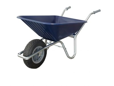 County Clipper Compact Garden Wheelbarrow Blue