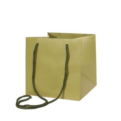 17x17cm Sage Green Hand Tie Bag (10/100)