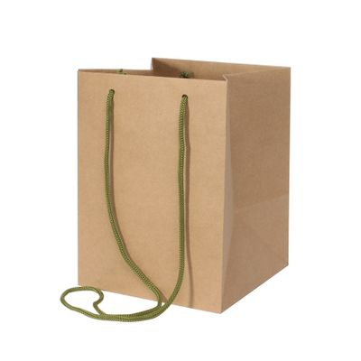 Ribbed Kraft Hand Tie Bag (19 x 25cm)