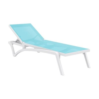 Pacific Sun Lounger - Turquoise/White